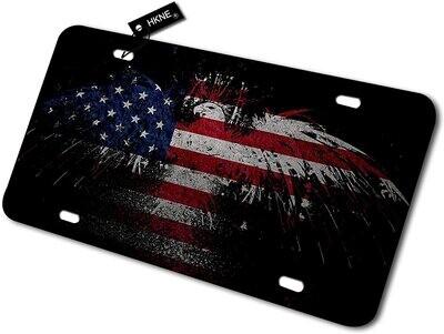 American Flag Eagle License Plate