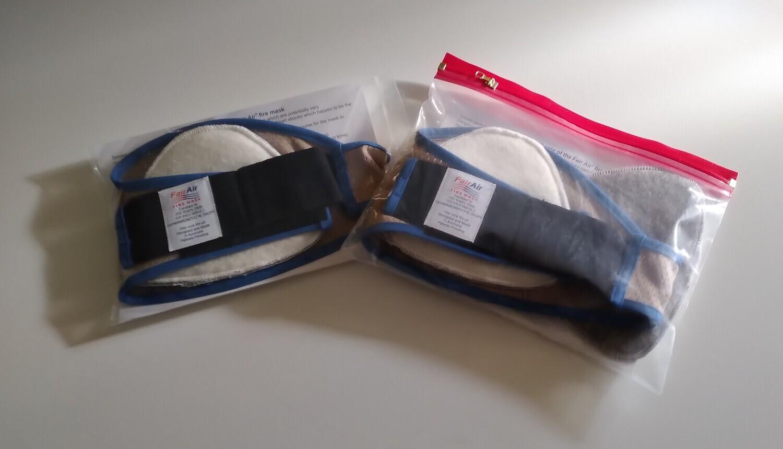 Khaki/Blue Fire Mask Set