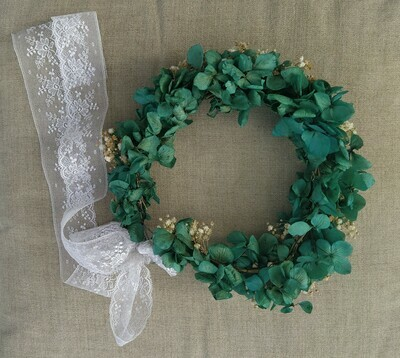 Corona hortensias y paniculata