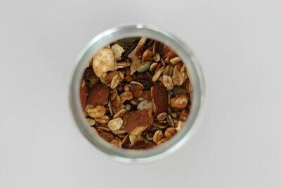 Granola Toartien amandelen, zaden, pitten en kaneel