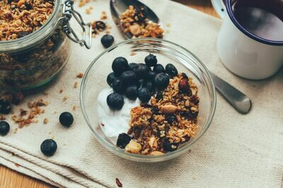 Granola chocolade en hazelnoten