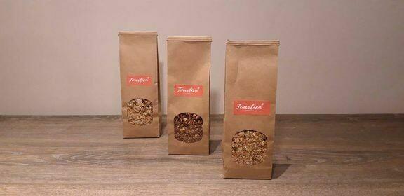 Droge voeding: Toartien Granola: verschillende soorten en prijzen