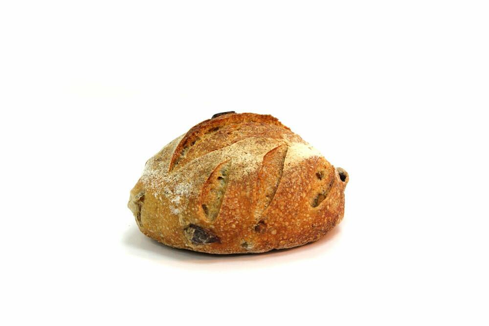 Brood: Pain des Paysanne: Le Voyageur (noten,vijgen, rozijnen-broodje) 350 gr (voor woensdag 12u bestellen)