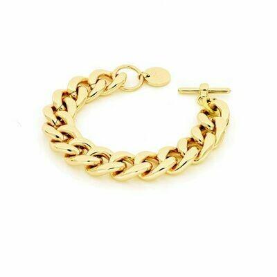 Bracciale Unoaerre catena grumetta dorata