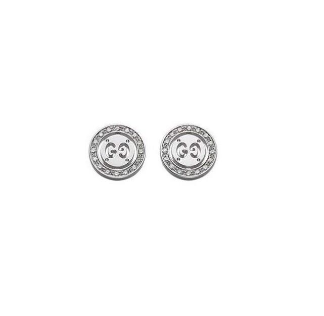Orecchini Gucci Trademark in oro bianco con diamanti