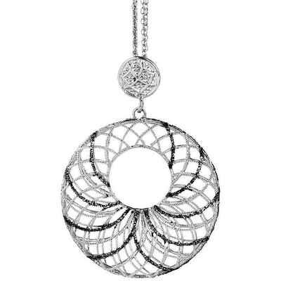 Collana Boccadamo in argento con pendente circolare