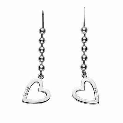 Orecchini Gucci argento Toggle Heart -cuore-