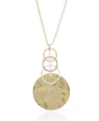 Collana Unoaerre in bronzo con pendente tre colori