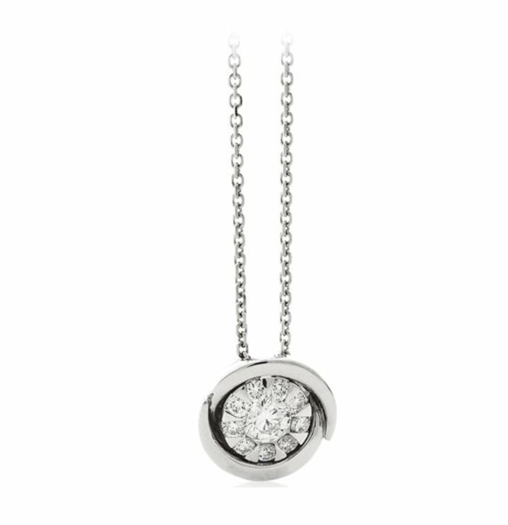 """Collana """"punto luce"""" Chimento Bouquet con centrale mutipietre diamantre"""