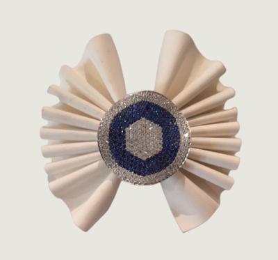 Anello in argento 925 con zirconi bianchi e blu