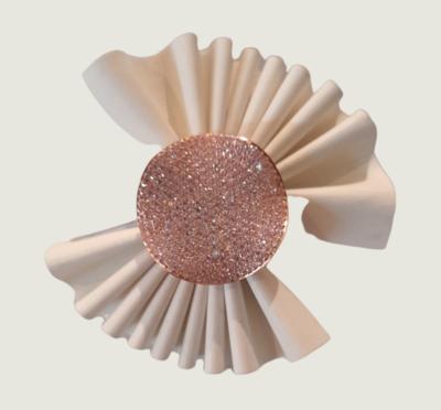 Anello in argento 925 rosè con zirconi rosa