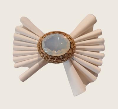 Anello in argento 925 dorato con pietra ovale cabochion
