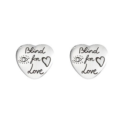 Orecchini Gucci argento Blind for Love a forma di Cuore