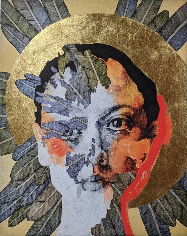 """Icon I""  Hand-gilded print"