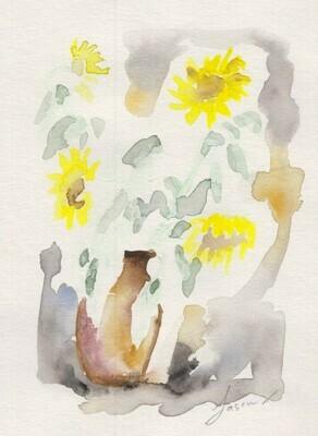 Sunflowers auf Papier 02