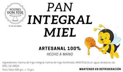 Pan Integral Miel
