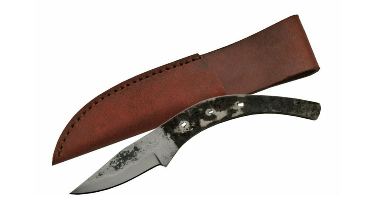 """7"""" Horsehoe Drop Point Knife w/ Sheath"""
