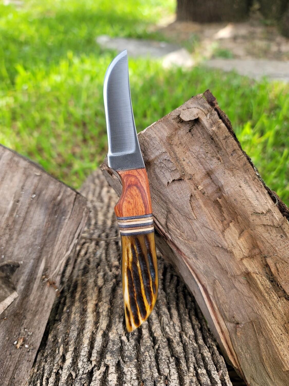 ANZA Cocobolo Wood with Amber Jig Bone Handle