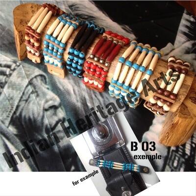 Bracelet Amérindien, 3 rangs, SUR COMMANDE à personnaliser