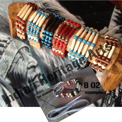Bracelet Amérindien, 2 rangs, SUR COMMANDE à personnaliser
