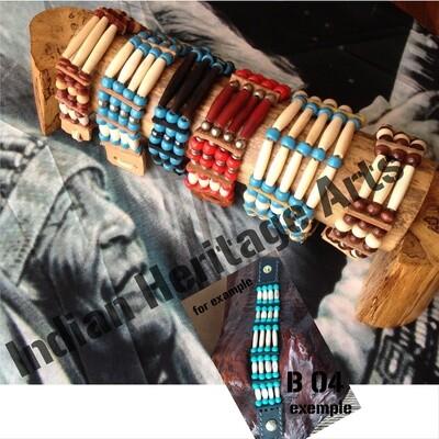 Bracelet Amérindien, 4 rangs, SUR COMMANDE à personnaliser -