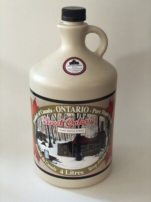 4 Litre bottle of Coutts Maple Syrup
