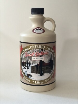 2 litre bottle of Coutts maple syrup