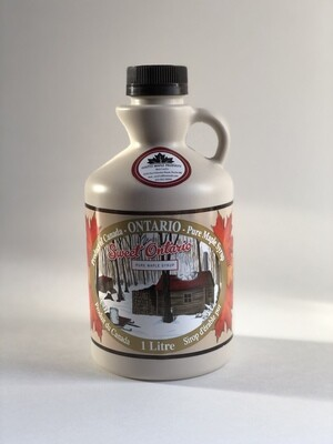 1 litre bottle of Coutts Maple Syrup