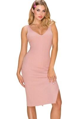 Camila Dress (Misty Rose)