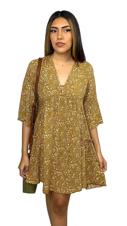 Autumn Dress (Soft Mustard)