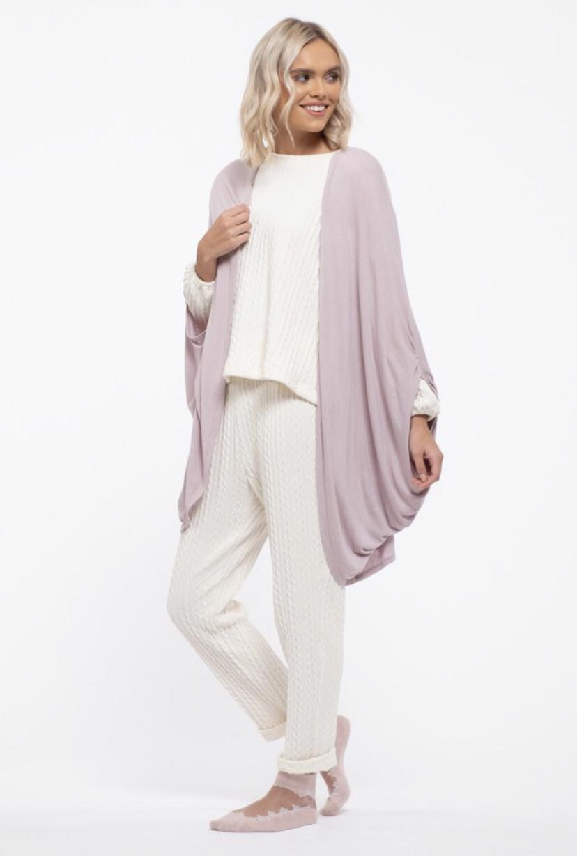 Lilac Cocoon cardigan