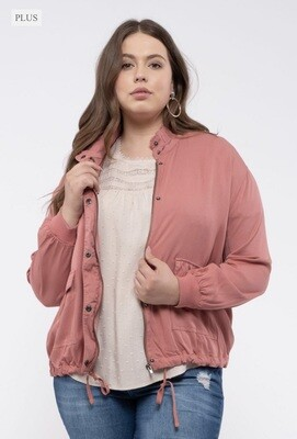 Ruched sleeve Jacket (Terracotta)