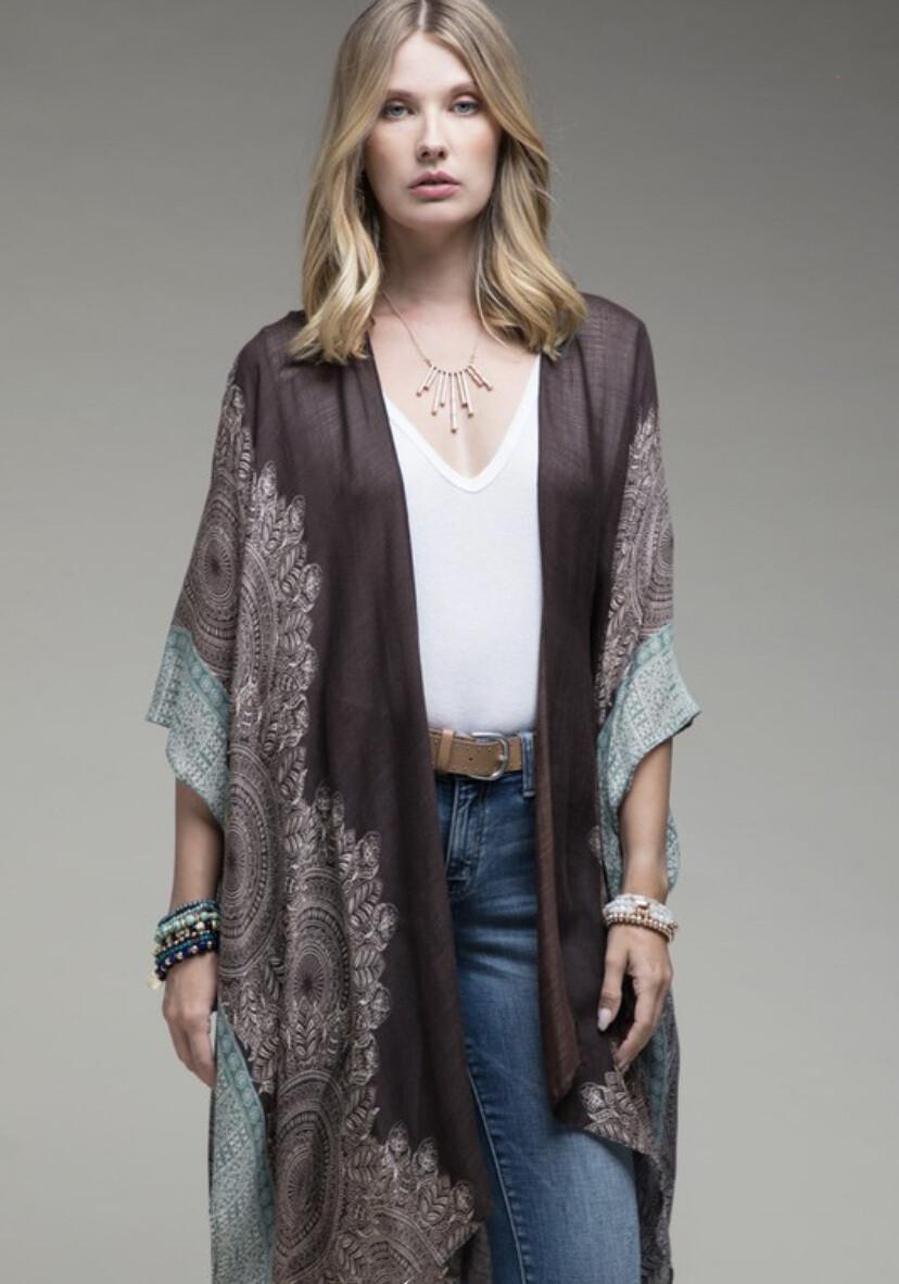 Kimono (Charcoal/Sage)