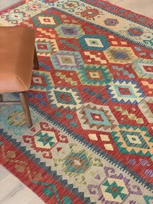 Kelim tapijt:  rood