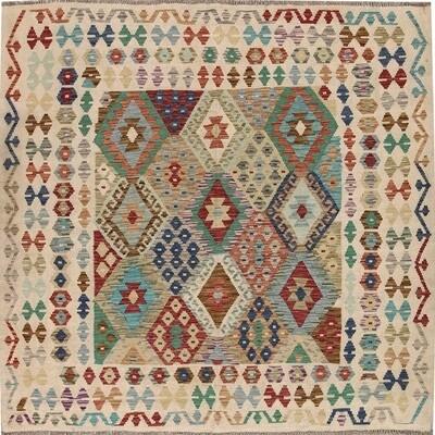 Kelim tapijt: vierkant 1