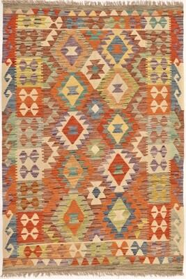 Kelim tapijt: warme tinten