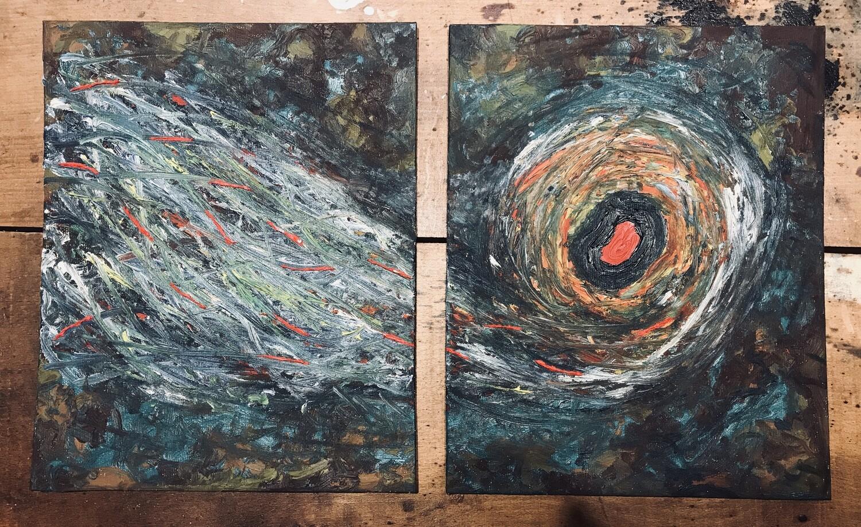 schilderij cReAtIOn I+II