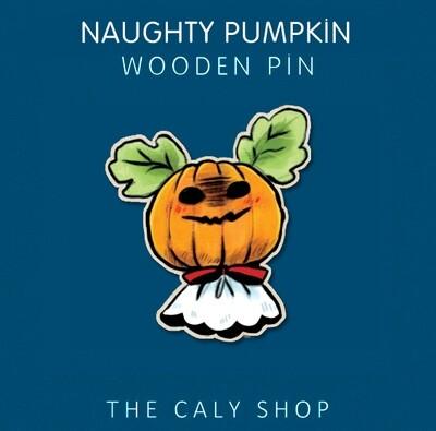 Pin en bois • Naughty Pumpkin