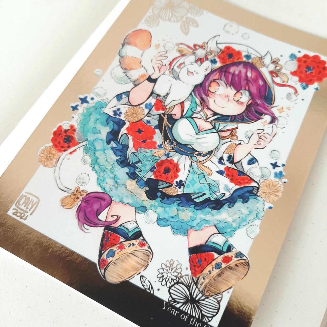 Carte postale avec dorure • Suzuka