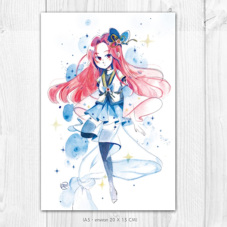 """Dessin original • Yuna """"Interstellar summer"""""""