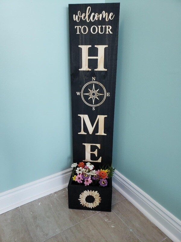 Porch Sign with Flower Box