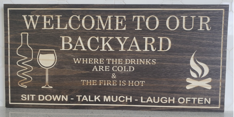 Backyard Sign