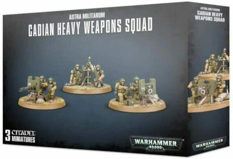 Astra Militarum Cadian Heavy Weapons Squad