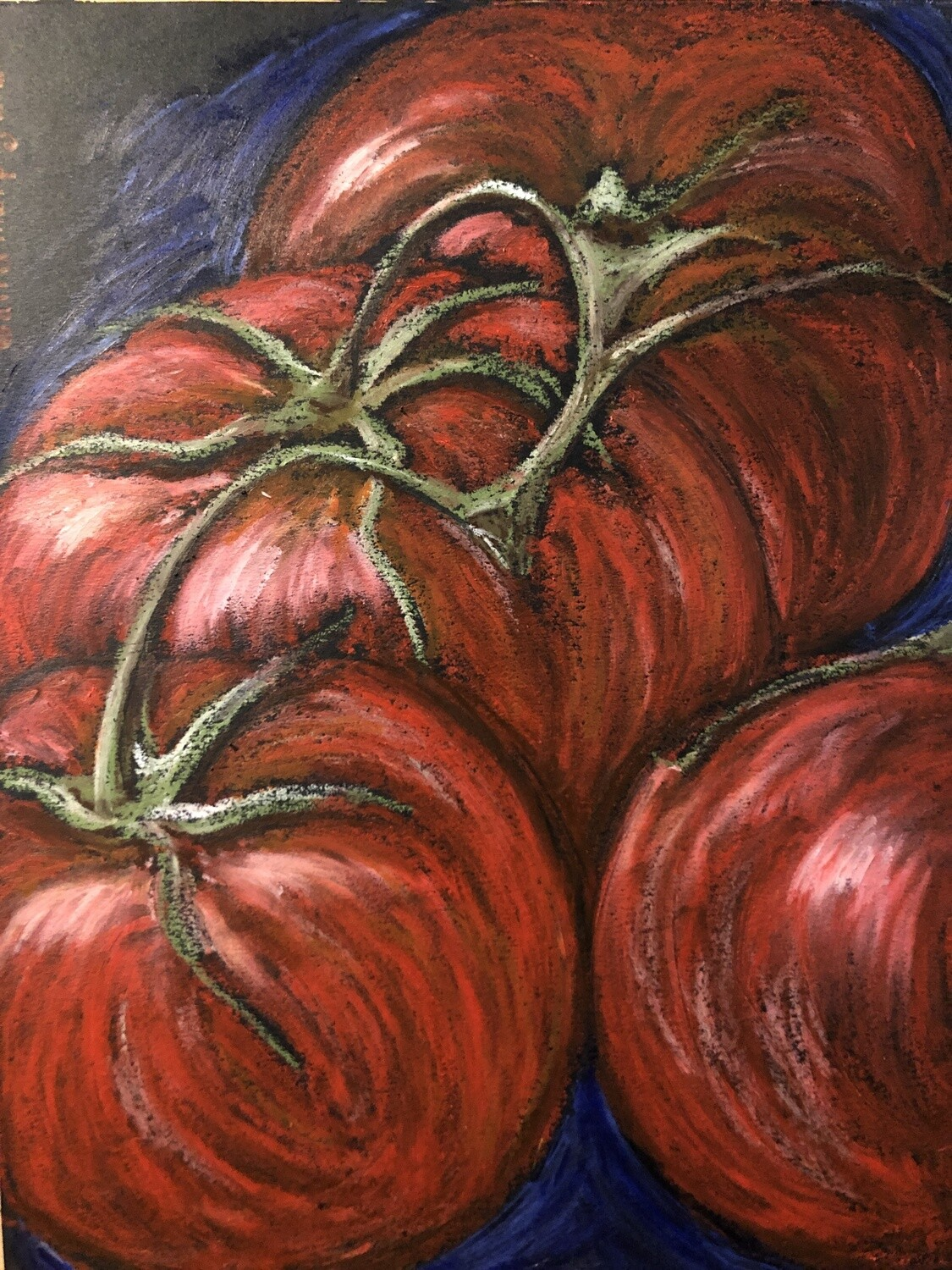 """""""Solanum"""" Soft Oil Pastel on Canson Paper 12X9inch"""