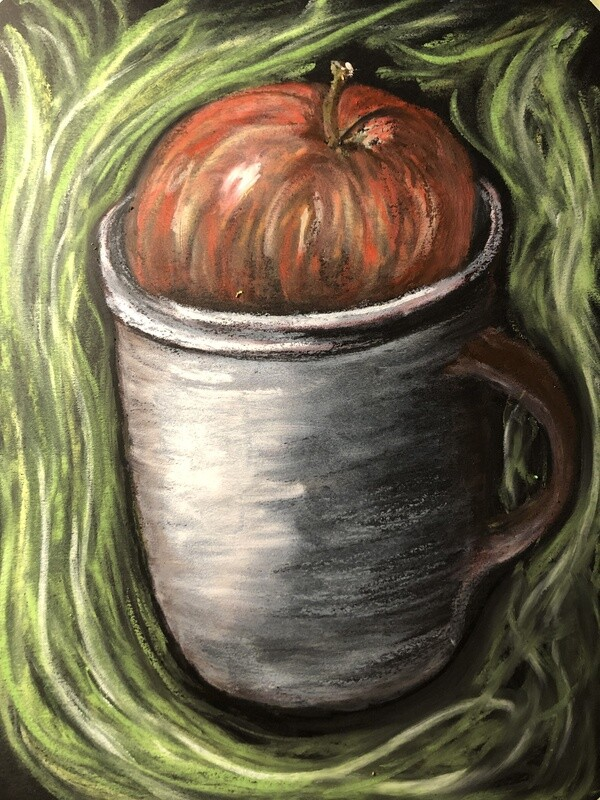 """""""Apple cider"""" Soft Oil Pastel on Canson Paper 12X9inch"""