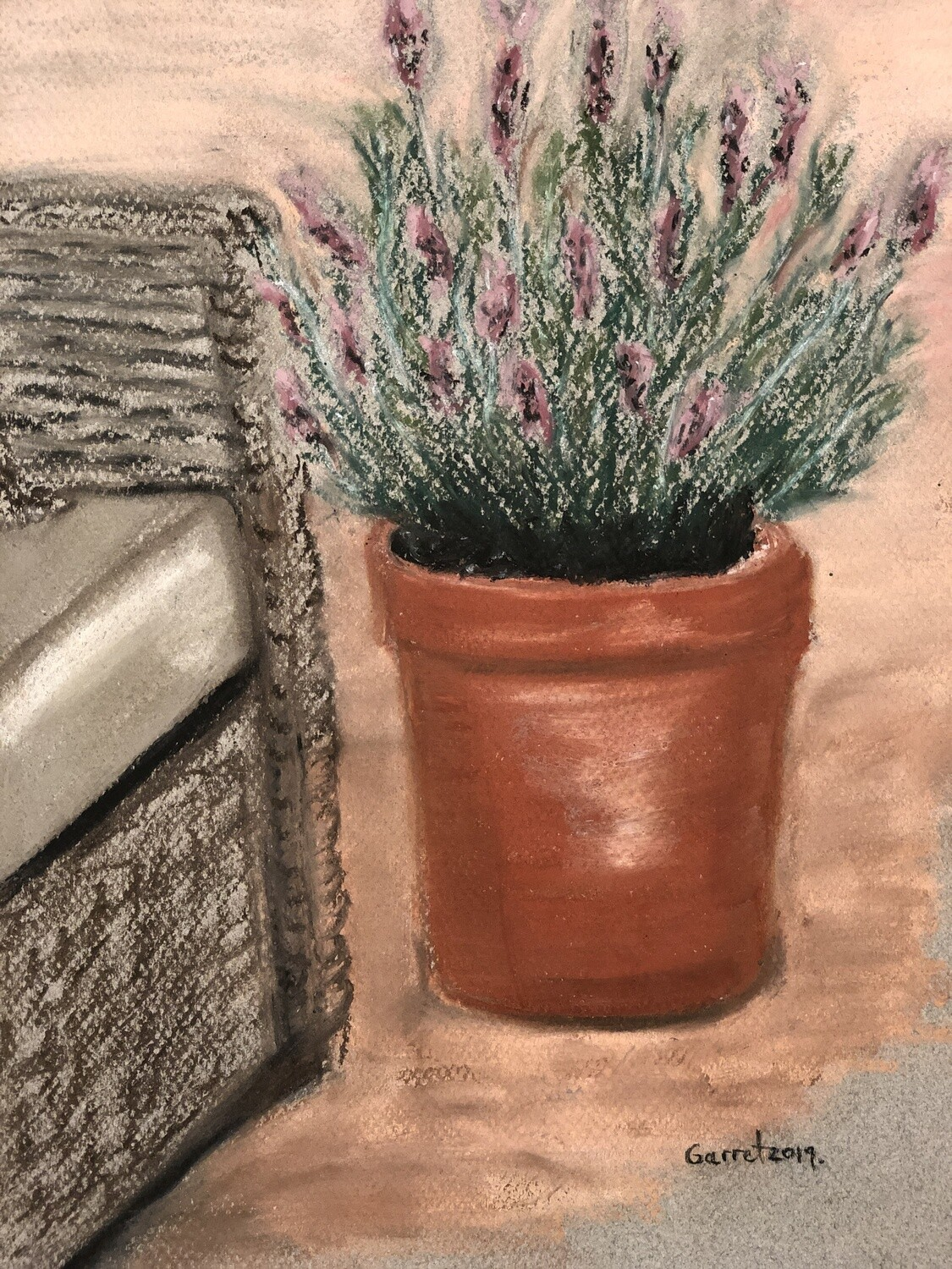 """Lavendula"" Soft Oil Pastel on Canson paper 12X9inch"