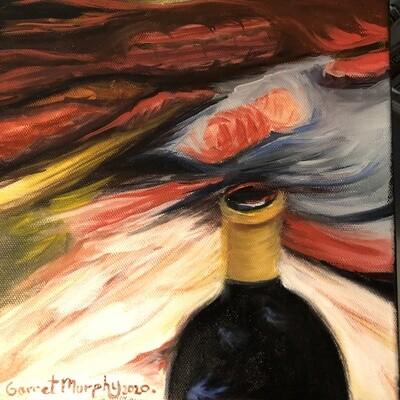 """""""Garagiste"""" Oil on canvas 8 X8inch"""
