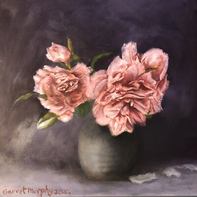 """""""Paeonia"""" Oil on Strathmore paper 10X10inch"""