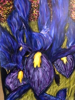 """Sanguinea"" Acrylic on Strathmore paper 12X14inch"