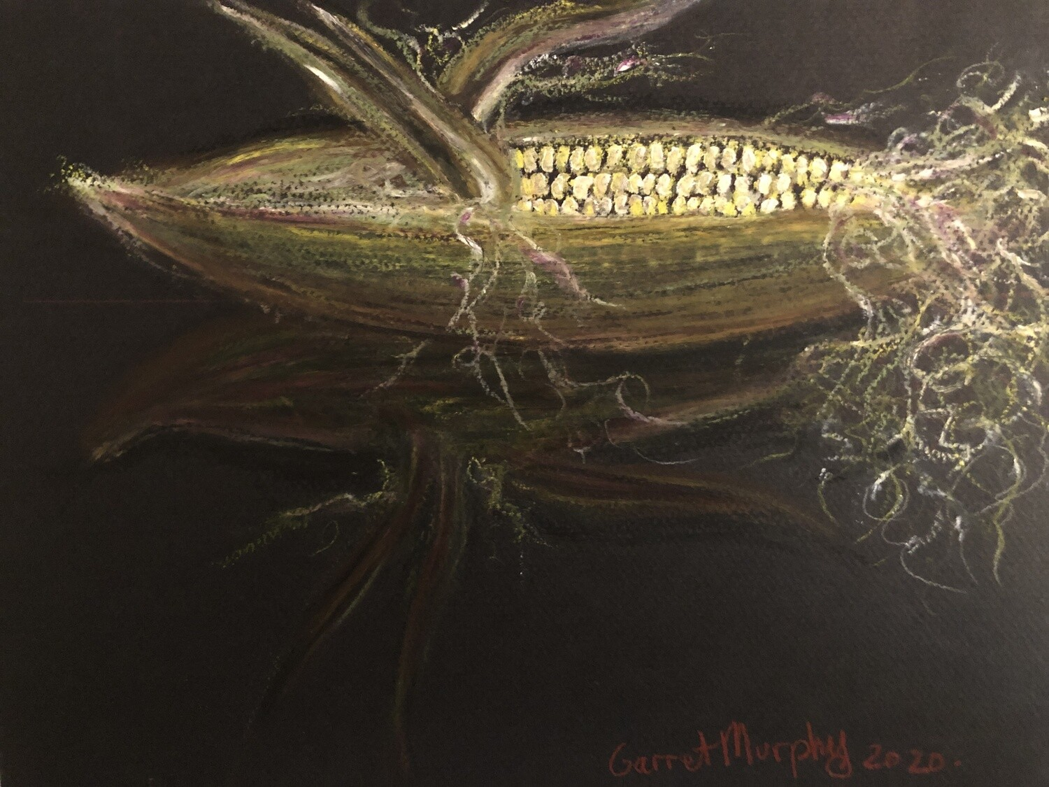 """""""Filament""""  Soft Oil Pastel on Canson Paper 12X9inch"""